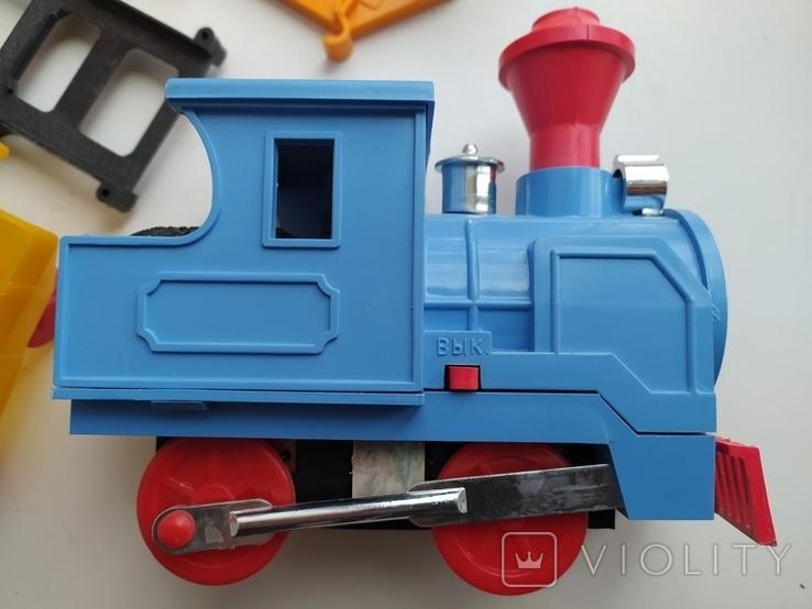 Железная дорога электромеханическая игрушка СССР. В коробке. 2, фото №8