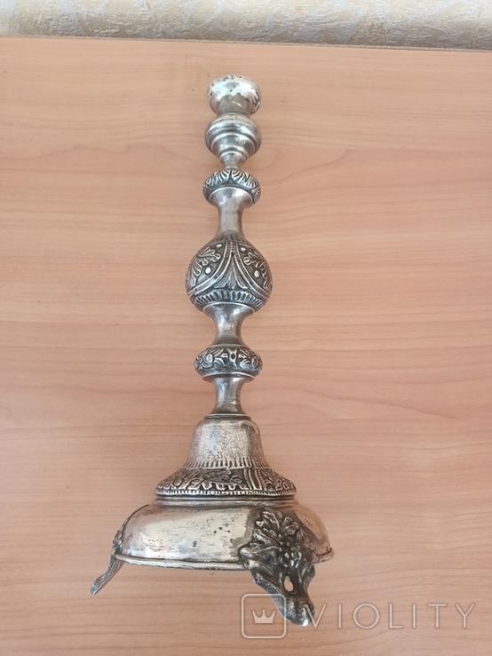 Серебрянный Подсвечник серебро 84, фото №4