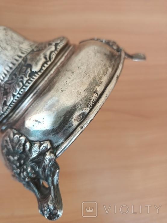 Серебрянный Подсвечник серебро 84, фото №6