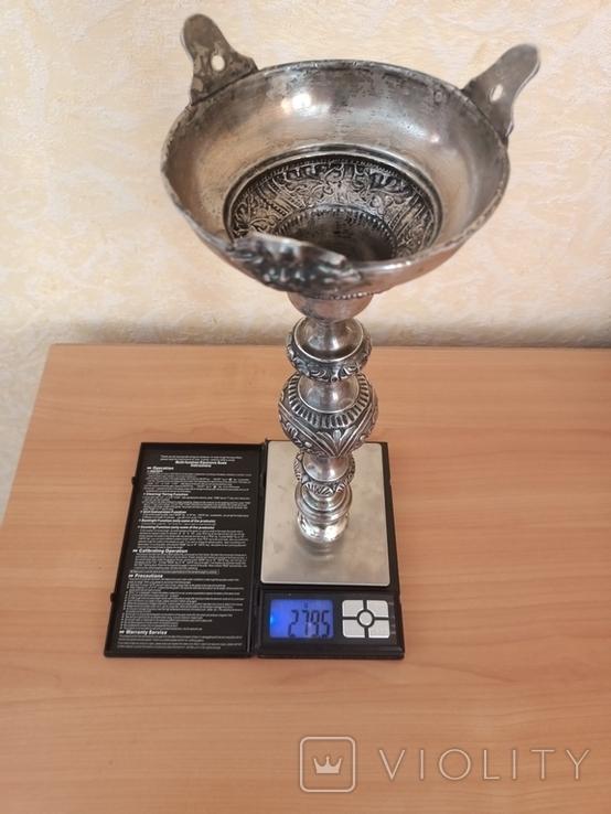 Серебрянный Подсвечник серебро 84, фото №7