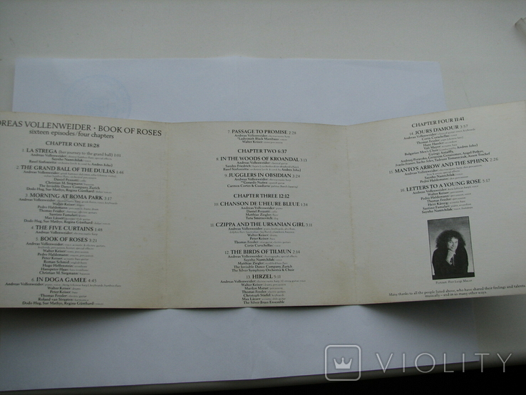 "ANDREAS VOLLENWEIDER""BOOK OF ROSES""1991г CD фирменный, фото №4"