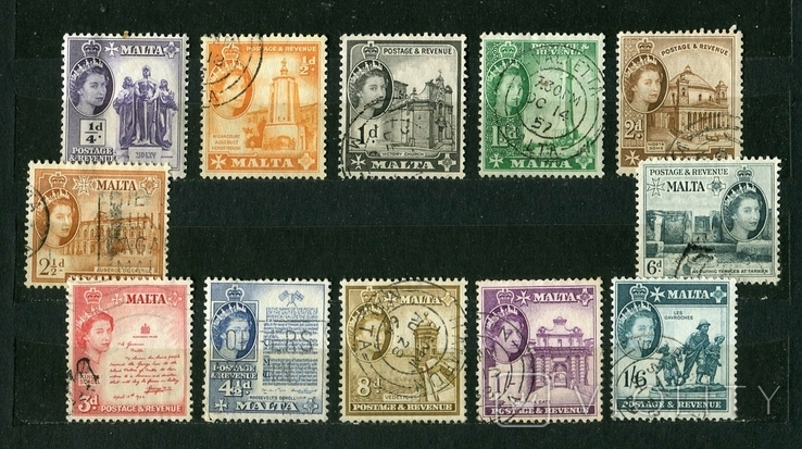 Британские колонии, Мальта, 1956-57 г. Елизавета II, фото №2