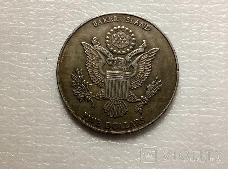 5 долларов 2005 СТАЛИН. 60 ЛЕТ конференции в Ялте США s6 копия, фото №3