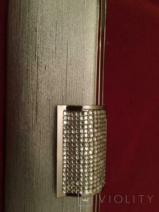 Сумка клатч серебряная, фото №5
