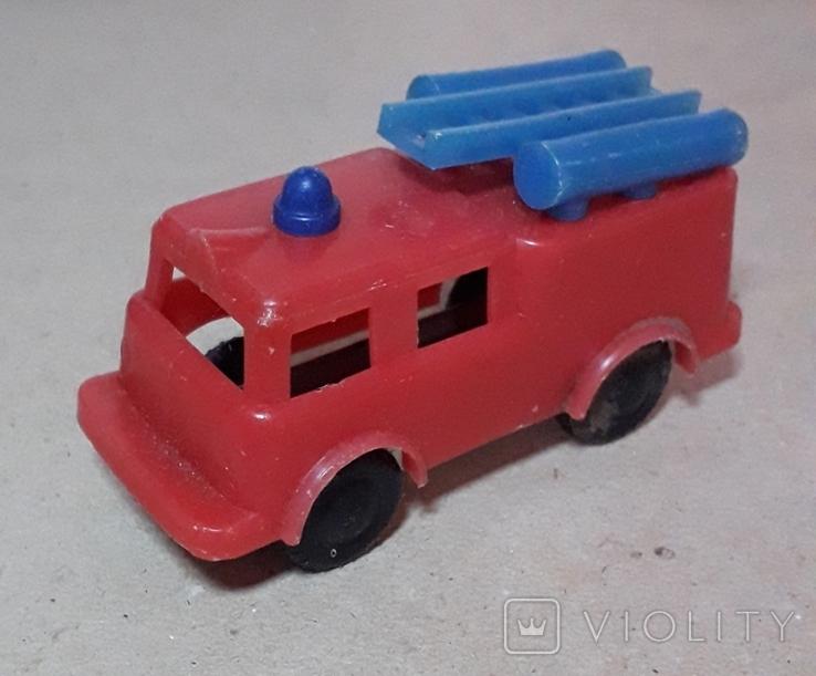 Пожарнвя машина пластмасса-металл из СССР, фото №3