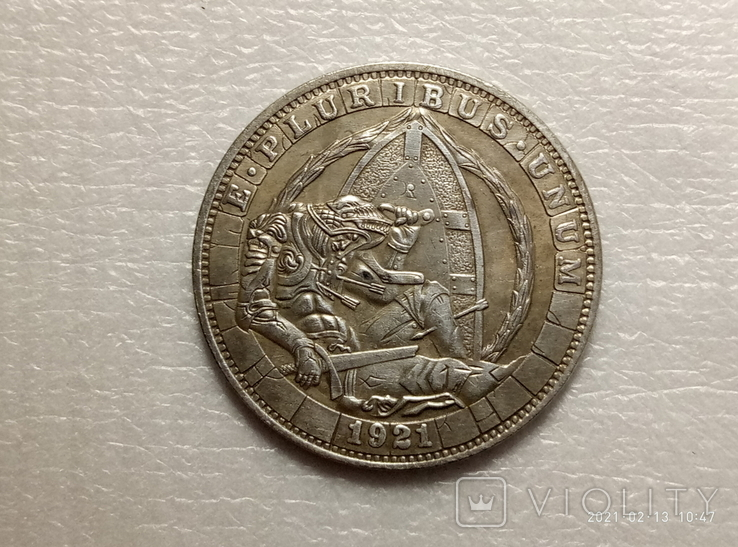 1 доллар Хобо США s44 копия, фото №2