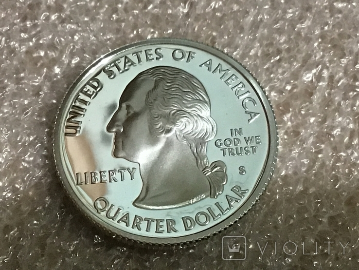 25 центов сша 2004 г. Серебро, фото №3