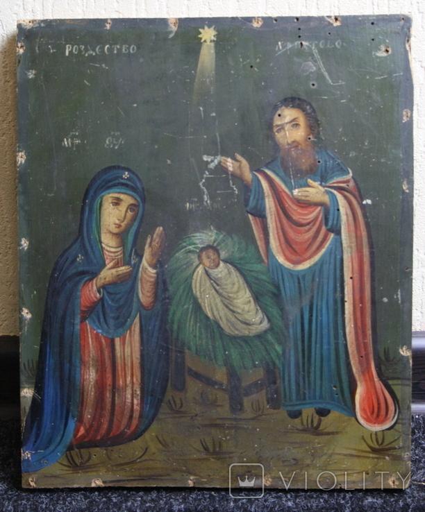 Рождество Христово 31,5х26,5, фото №2