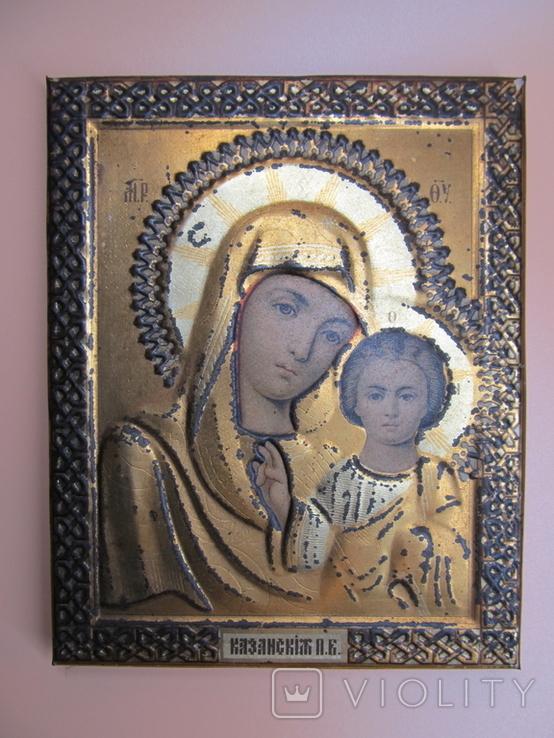 Икона Казанская БМ, Жако, 17,5 х 14 см., фото №3