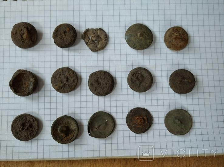 Старинные пуговицы, 15 шт, фото №3