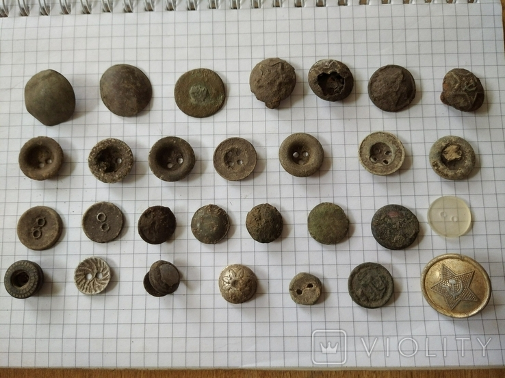 Старинные пуговицы, 29 шт, фото №2
