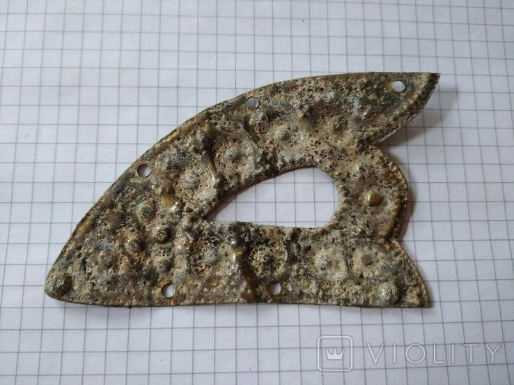 Старинная латунная накладка, фото №2