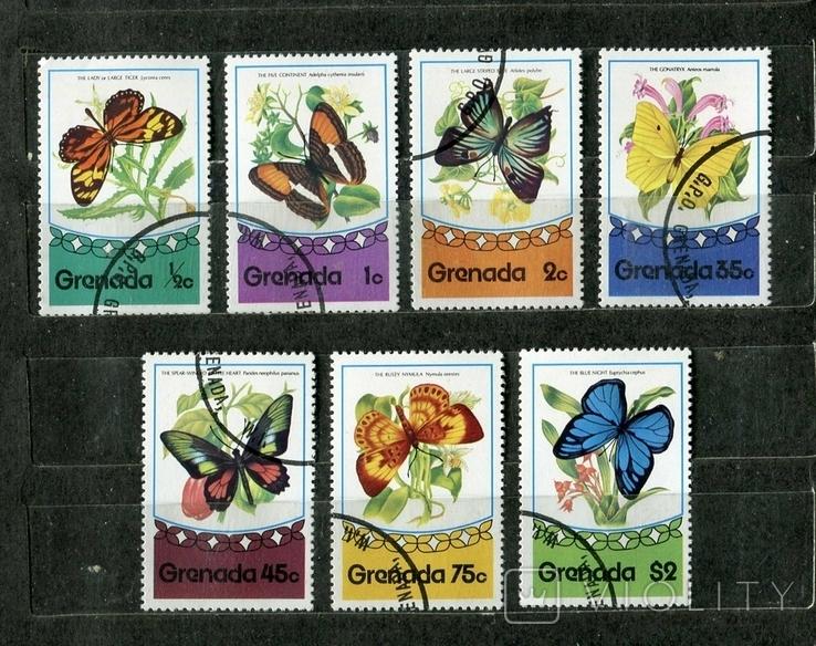Гренада, бабочки. 1975 г. (полная серия), фото №2
