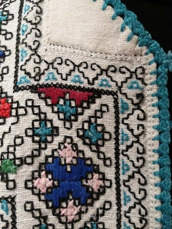 Жіноча вишиванка на домотканому полотні, фото №6