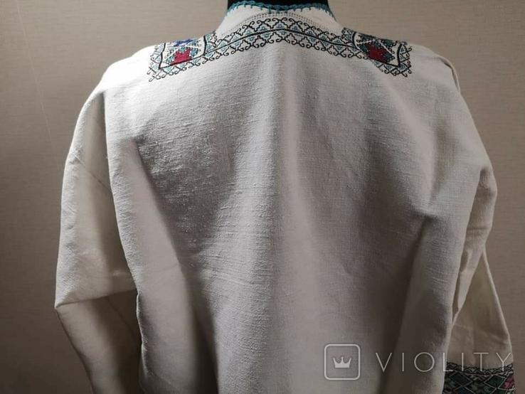 Жіноча вишиванка на домотканому полотні, фото №9