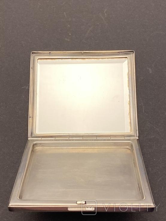 Серебряная пудреница с золотой накладкой, серебро, золото, фото №3