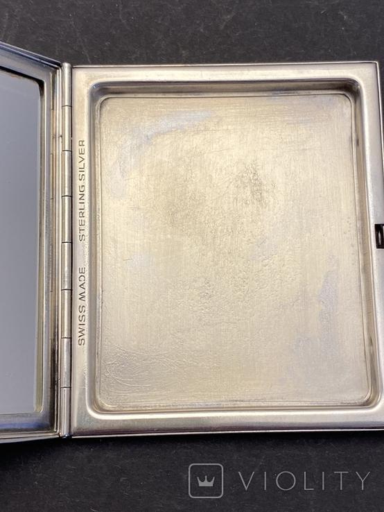 Серебряная пудреница с золотой накладкой, серебро, золото, фото №11