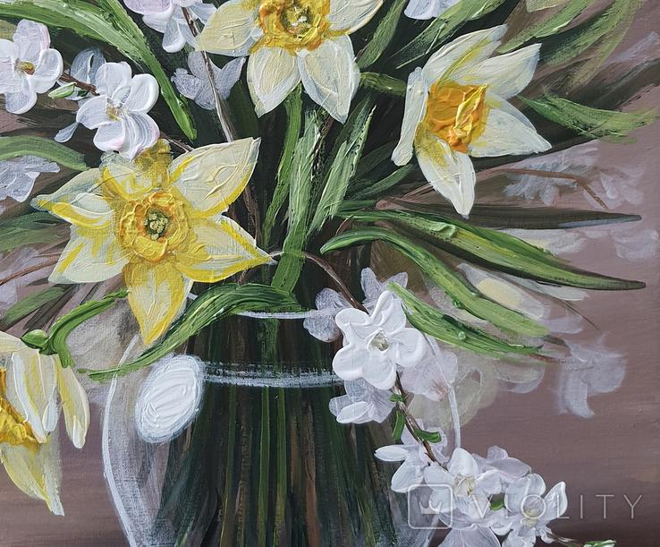 Картина, Весняний букет, 30х40 см. Живопис на полотні, фото №5