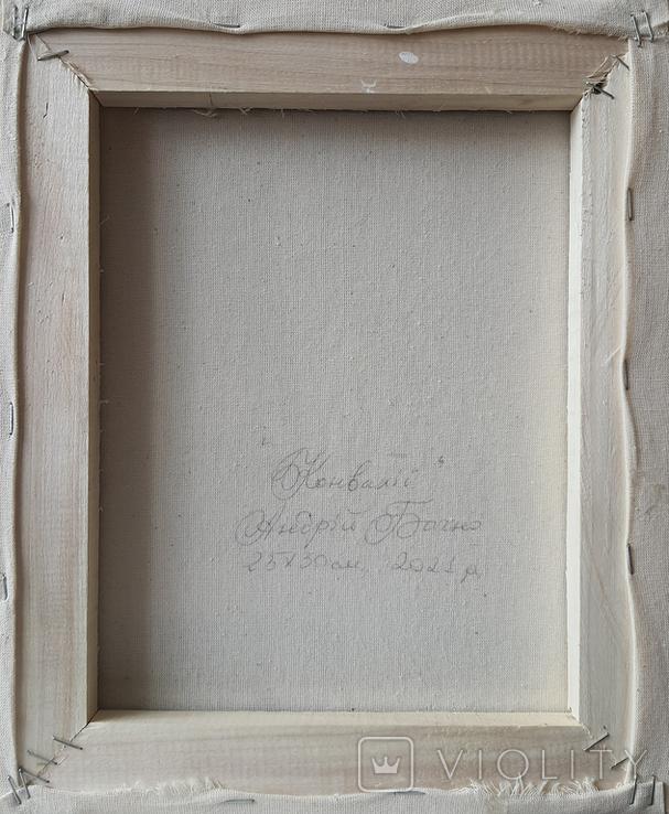 Картина, Конвалії, 25х30 см. Живопис на полотні, фото №6