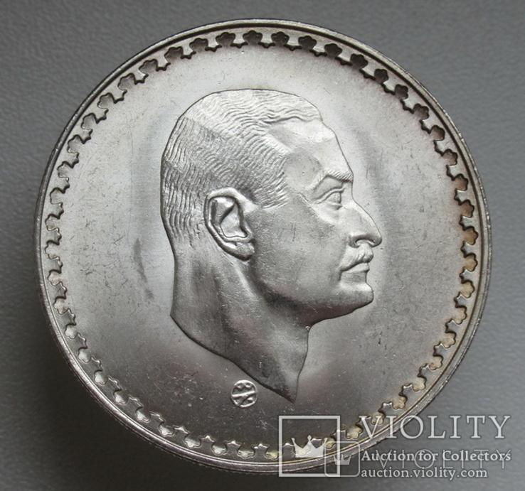 "1 фунт 1970 г. Египет "" Президент Насер "", серебро, фото №3"