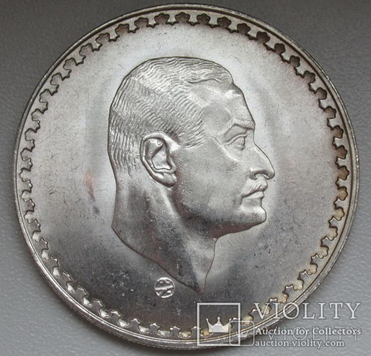 "1 фунт 1970 г. Египет "" Президент Насер "", серебро, фото №5"