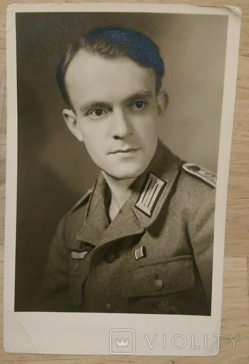 Портретное фото Офицера вермахта награжденного ЖК2'39, Пехотный Штурм, фото №2