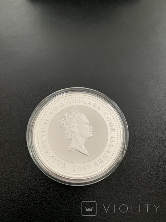 2 доллара Новая Зеландия 31.10 грамм, фото №4