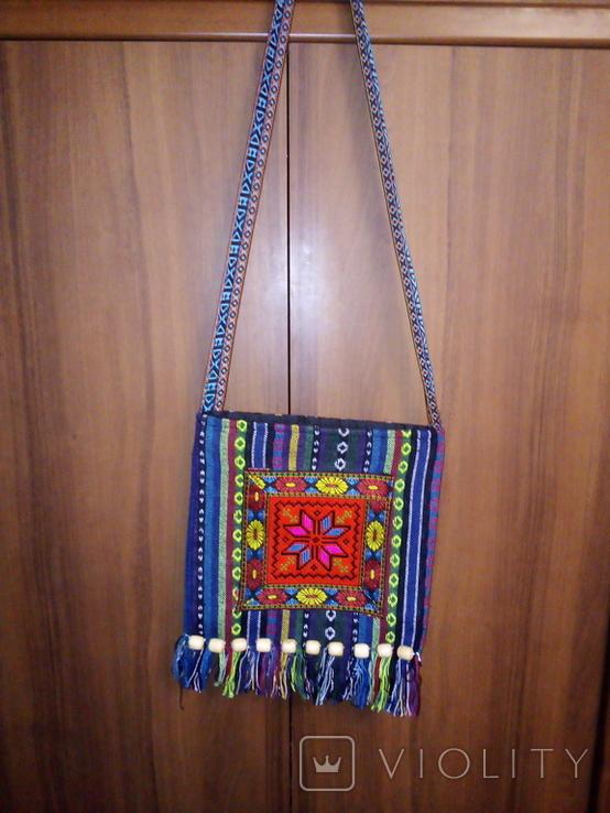 Вышитая сумка, этностиль, фото №3