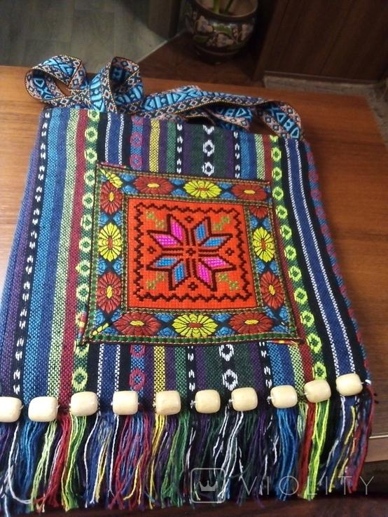 Вышитая сумка, этностиль, фото №4