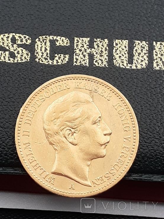 20 марок 1889. Пруссия. Золото., фото №6