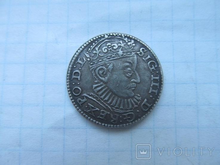 Трояк 1588 г, фото №2