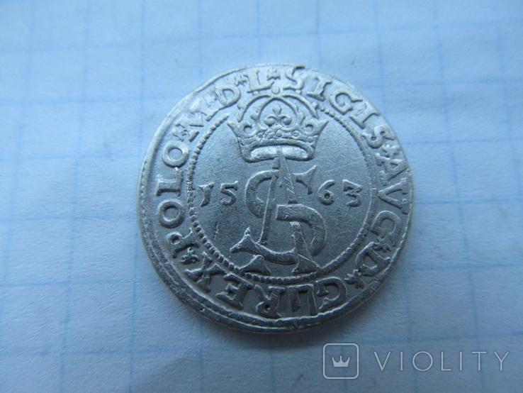 Трояк 1563 г, фото №2