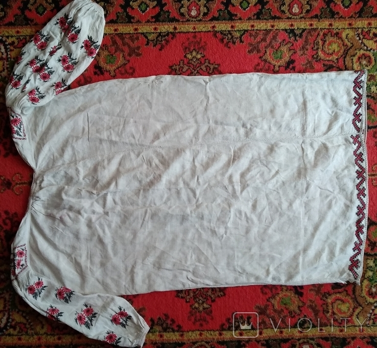 Сорочка вышиванка, конопляна., фото №4