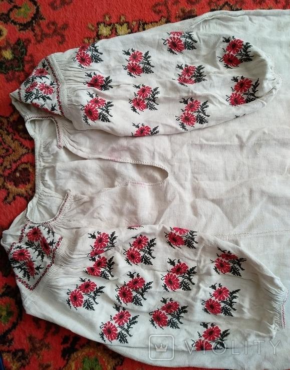 Сорочка вышиванка, конопляна., фото №7