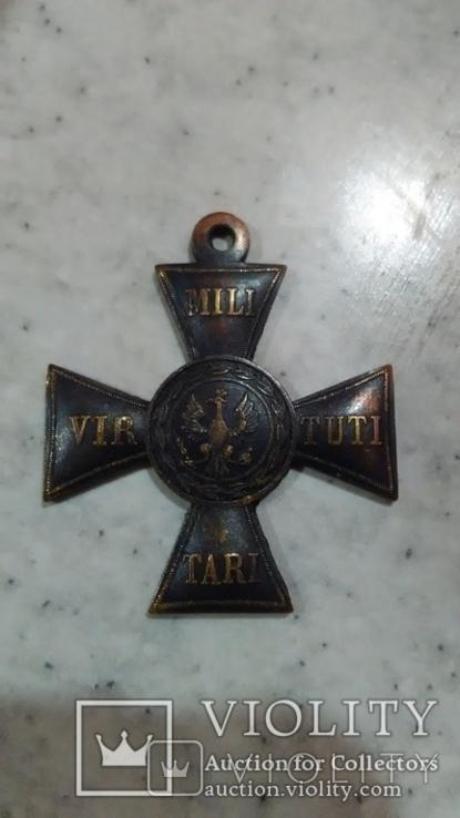 Крест Виртути Милитари 1831 года Virtuti militari 5 степень копия, фото №3