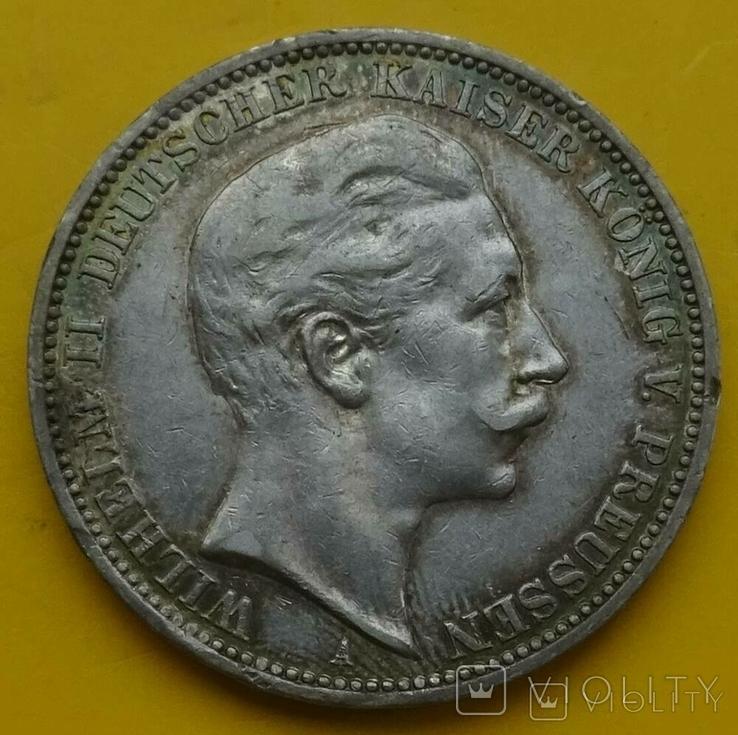 3 марки, Пруссия, 1910г, фото №2
