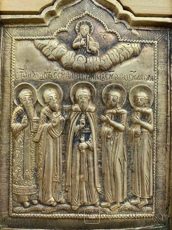 Икона Святых бронза, фото №6