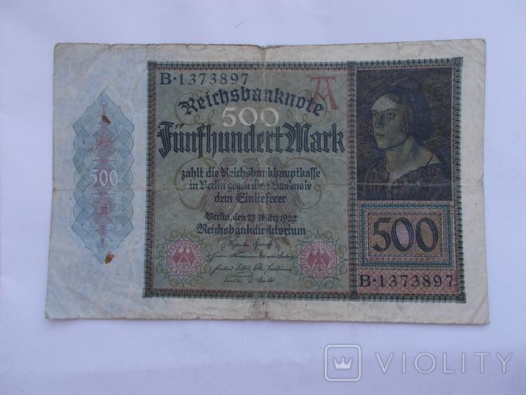 500 марок 1922 г., фото №2