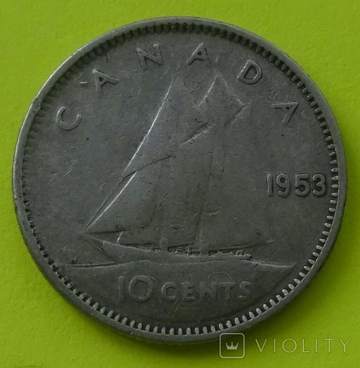 10 центов, 1953 год, Канада., фото №3