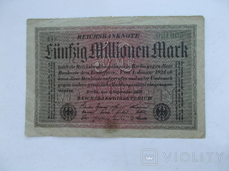 5 млн. марок 1923 г. -2, фото №2
