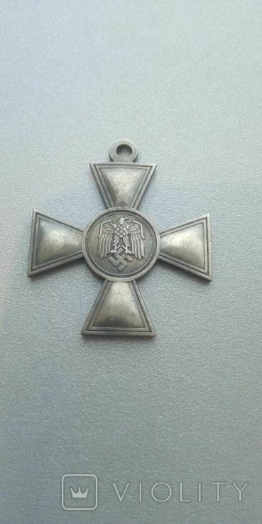 Крест Германия Третий Рейх Крест за 25 лет выслуги в Вермахте копия, фото №3