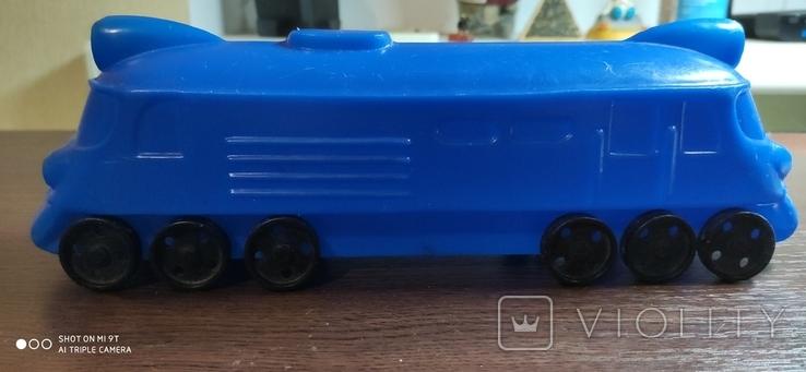 Игрушка поезд, тепловоз, локомотив дутый дутыш, фото №2