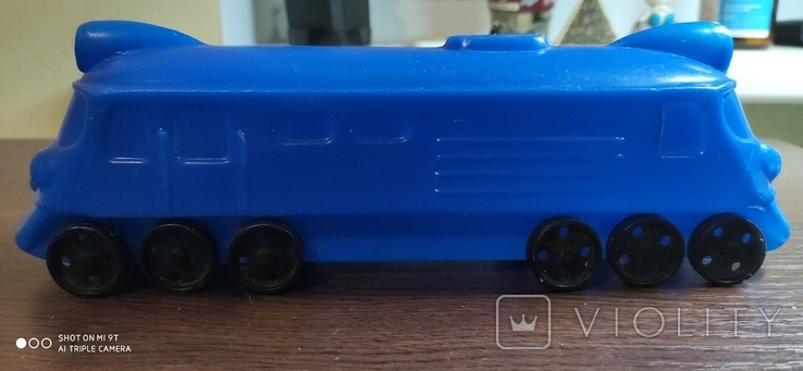 Игрушка поезд, тепловоз, локомотив дутый дутыш, фото №6