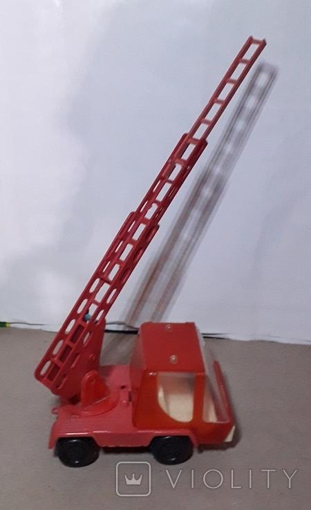 Машинка Пожарная СССР с выдвижной лестницей (3 секции), фото №2
