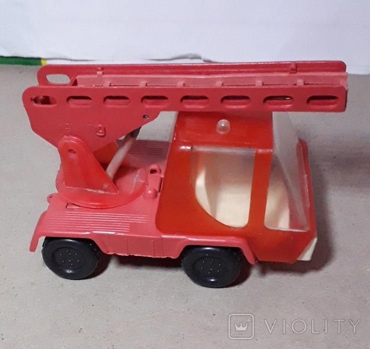 Машинка Пожарная СССР с выдвижной лестницей (3 секции), фото №4