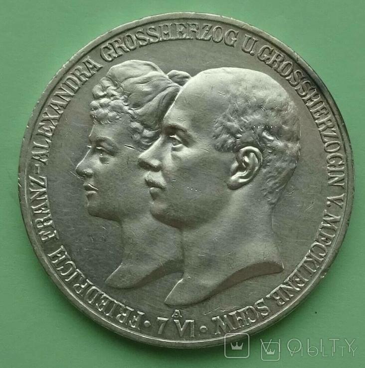 5 марок, Меклинбург-Шверин, 1904 год., фото №2