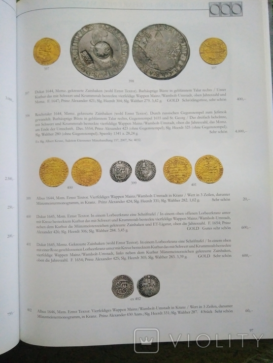 Каталог , аукционник монет ,города Майнц., фото №9