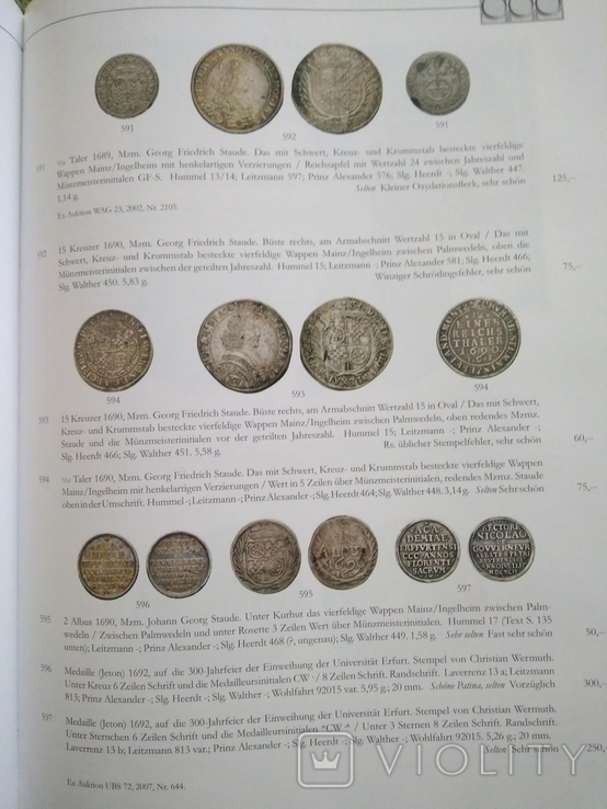 Каталог , аукционник монет ,города Майнц., фото №12