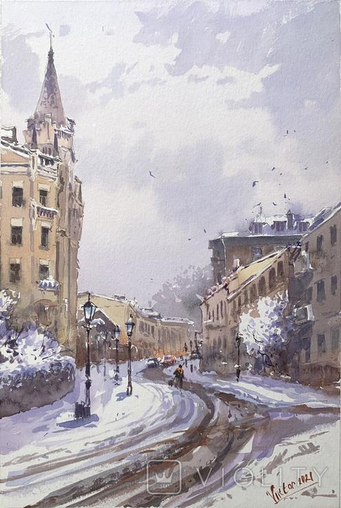 """Картина """"Киев, зима"""". Микитенко Виктор"""