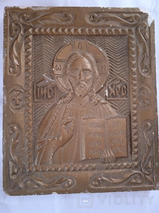Ікона из гипса времен СССР, фото №2